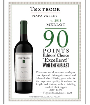 Textbook Merlot Wine Enthusiast  Review