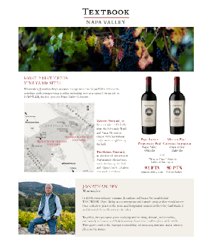 Textbook Vineyards Family Sell Sheet