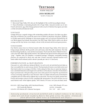 Textbook Napa Valley Merlot Technical Note